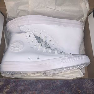 Converse leather white high tops